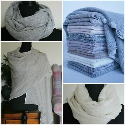 Pure Cashmere Pashmina Scarf Shawl Stole Classic Style 100% Handmade In Nepal  • 22.99£