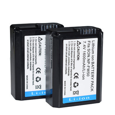$ CDN23.85 • Buy 2x Battery For SONY RX10 A7 A7S A7R A5000 A5100 A6000 A6300 A6500 II III NP-FW50