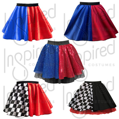 PLUS SIZE HARLEY QUINN Halloween Costume Skirt FANCY DRESS Harlequin SKIRT • 13.99£