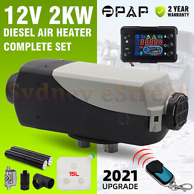 AU339 • Buy 12V 2KW Diesel Air Heater Tank Remote Control Thermostat Caravan Motorhome 15L