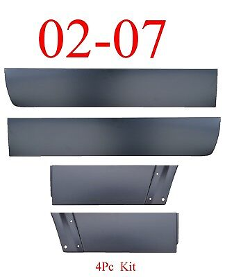 $229 • Buy 02 07 Jeep Liberty 4Pc Front & Rear Lower Door Skin Set Outer Panel