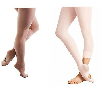 £3.95 • Buy Girls Children Soft Convertible Transition Footed  Footless Dance Ballet Tights