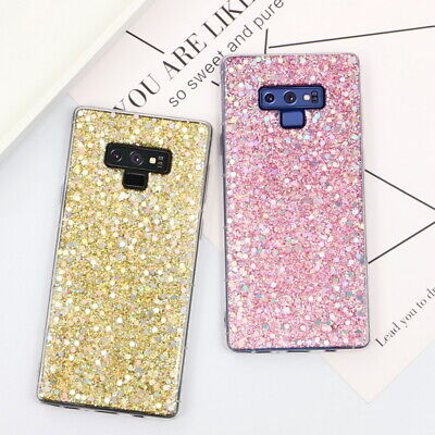 $ CDN4.33 • Buy For Samsung Galaxy S8 S9 Note 9 A6 2018 Bling Glitter Soft Gel Rubber Case Cover