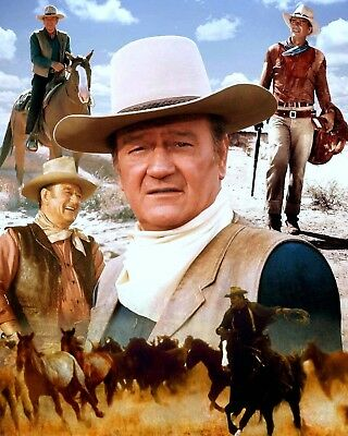 $6.99 • Buy John Wayne's Amazing Life In Western Movies Glossy 8x10 Photo