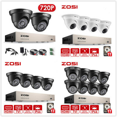 £79.99 • Buy ZOSI CCTV Camera 4/8CH 1080N DVR Dome 720P Home Security System Wired Hard Drive