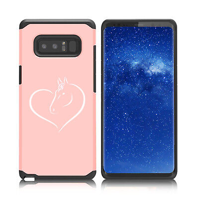 $ CDN19.76 • Buy For Samsung Galaxy Note 8 9 Shockproof Hard Soft Bumper Case Cover Heart Horse