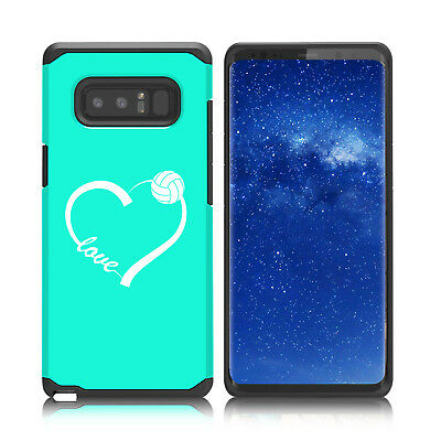 $ CDN19.76 • Buy For Samsung Galaxy Note 8 9 Shockproof Hard Case Cover Love Heart Volleyball