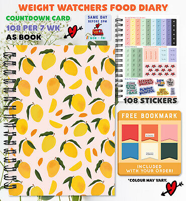 6 MTH PERSONALISED Food Diary WEIGHT WATCHERS Diet Compatible Journal Planner  • 17.95£