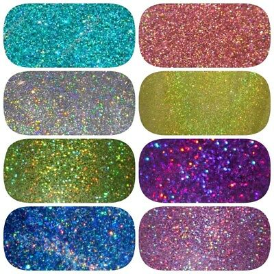 HOLOGRAPHIC GLITTER 100g **Perfect For Nail Art, Cosmetic, Wine Glass And Body** • 2.99£