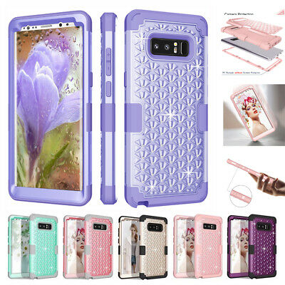 $ CDN5.96 • Buy Bling Glitter Shockproof Hard Case For Samsung Galaxy Note 8 S8 + Rubber Cover