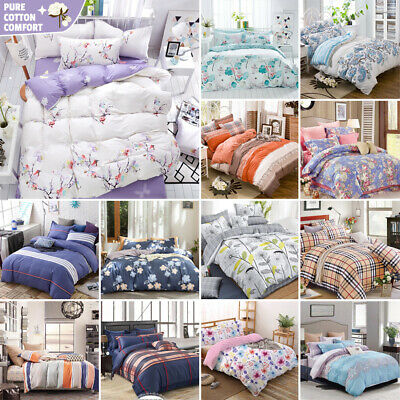 AU45 • Buy 100% Pure Cotton Bedding 2021 New All Size Bed Doona Quilt Duvet Cover Set