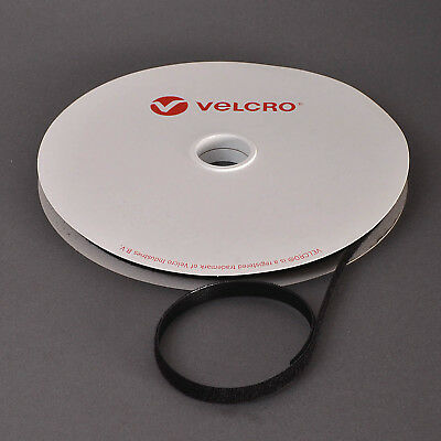 VELCRO® Brand ONE-WRAP® 10mm Cable Tie Black Double Sided Hook / Loop Strapping • 2.99£