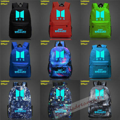 $20.85 • Buy KPOP BTS Backpack Bangtan Boys Boys Girls Night Luminous Backpack Bookbag