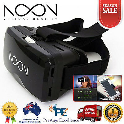 AU249 • Buy Noon VR Virtual Reality Headset Smart Glasses 3D Movies Glasses Smartphone Black