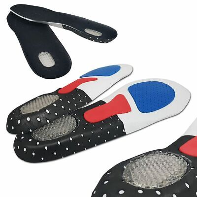 Unisex Orthotic Arch Support Insoles Sport Comfort Shoe Shock Absorb Gel Heel UK • 2.45£