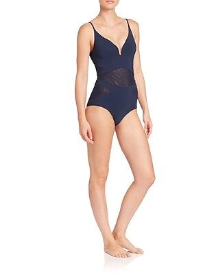 $129.99 • Buy Zimmermann One-Piece Separates Plunge Navy Swimsuit Sz 0 (US  2-4) $295