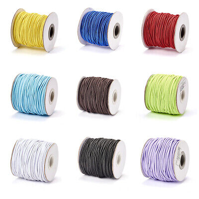 $ CDN14.74 • Buy 43yds/Roll Elastic Cords Stretchable Threads Nylon Outside Rubber Inside 2mm