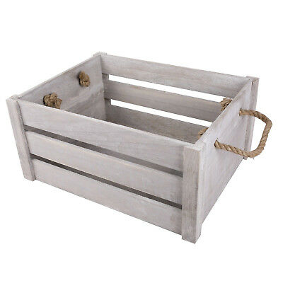 New Rope Handle Display Storage Wooden Crates Shelve Box Christmas Gift Hampers • 13.29£