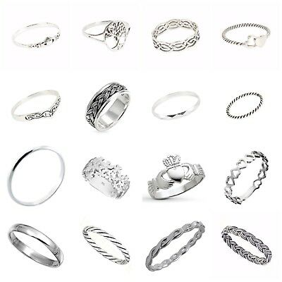 925 SOLID Sterling Silver Many Mixed Design Rings In Sizes G-Z • 6.99£