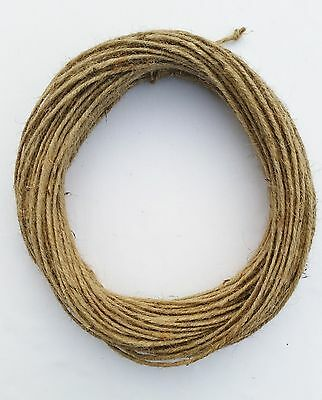 3mm Thick 3 Ply Natural Brown Soft Jute Twine Sisal String Rustic Shabby Cord • 2.19£