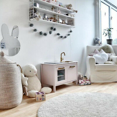 Acrylic Rabbit Mirror Wall Door Sticker Decal For Home Kids Bedroom Decor S • 3.84£
