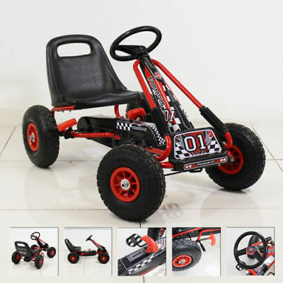 £79.95 • Buy Go Kart Kids Childrens Pedal Ride On Car Racing Toy Rubber Tyres Wheels 4-8 Year