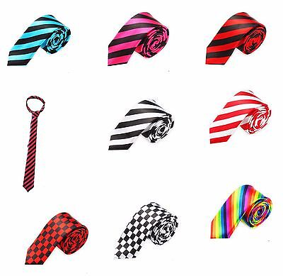 £4.95 • Buy Novelty  Print Slim Necktie   Mens  Classic And  Fancy Party  Fashion Accessory