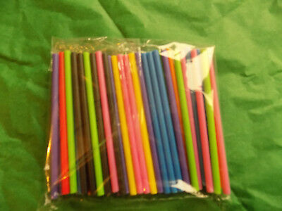 £1.99 • Buy 50 Mixed Coloured Plastic Lollipop,cake Pop Sticks