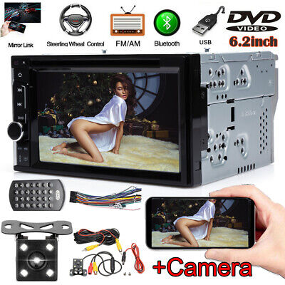 £104.52 • Buy Double 2 Din 6.2  Car Stereo DVD CD MP3 Player In Dash + Camera Fits Ford Fiesta