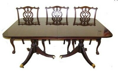 $2000 • Buy Antique George II Chippendale Revival Mahogany Dining Set C. Early 1900's