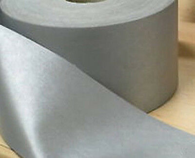 £1.72 • Buy Silver Reflective Iron On Heat Applied Tape Gray 50 Mm Hi Visibility Per Metre