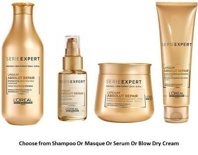 Shampoo/Masque/Serum/Blow Dry Cream Loreal Professionnel Lipidium Absolut Repair • 21£