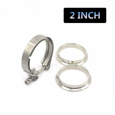 $ CDN18.02 • Buy 2'' Stainless Steel V-Band Clamp & Flange Kit For Turbo Exhaust Downpipes V Band