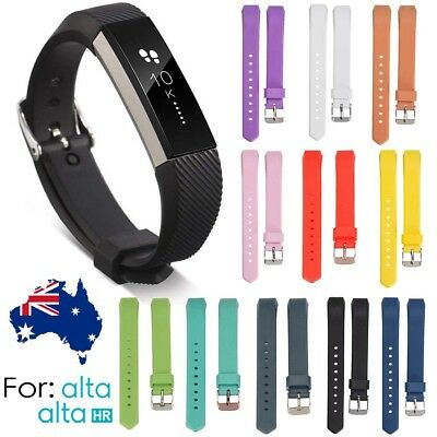 AU6.46 • Buy Soft Silicone Replacement Spare Band Strap Twill For Fitbit Alta/Alta HR