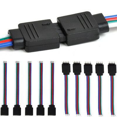 $2.78 • Buy 10Pcs 4Pin Male + Female Connector Cable Wire For 3528 5050 SMD LED Strip Light