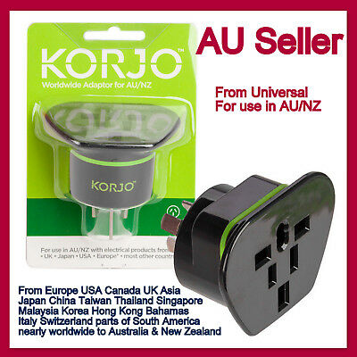 AU58.97 • Buy USA US EU UK JAPAN ASIA To AU Australia Plug AC Power Adapter Travel Converter