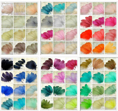 70 Colours Loose Goose Feathers For Millinery Hats Trim Fascinators Dress Crafts • 3.99£