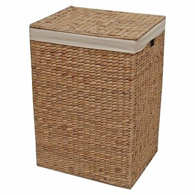 Water Hyacinth Laundry Basket Lined Toy Storage End Of Line Seconds 30% OFF • 41.99£