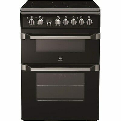 £399.96 • Buy Indesit 60cm Double Oven Electric Cooker With Ceramic Hob - Black