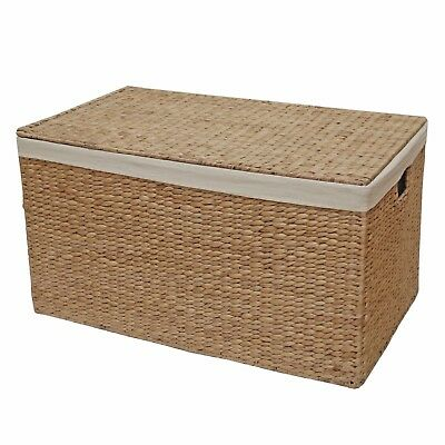 Wicker Trunk Chest Lined Storage Water Hyacinth End Of Line Seconds HALF PRICE • 34.99£