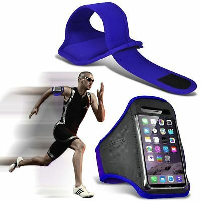 Quality Armband Phone Case✔Sports Exercise Gym Running Fitness Workout✔Blue • 4.95£