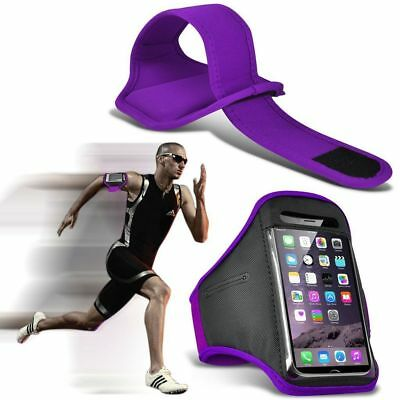 Quality Armband Phone Case✔Sports Exercise Gym Running Fitness Workout✔Purple • 4.95£