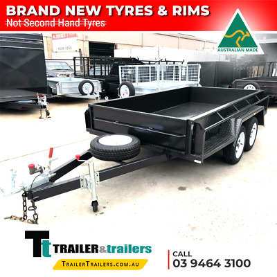 AU2680 • Buy 9x5 TANDEM AXLE BOX TRAILER | FULL CHECKERPLATE | 15  HIGH SIDES + JOCKEY WHEEL