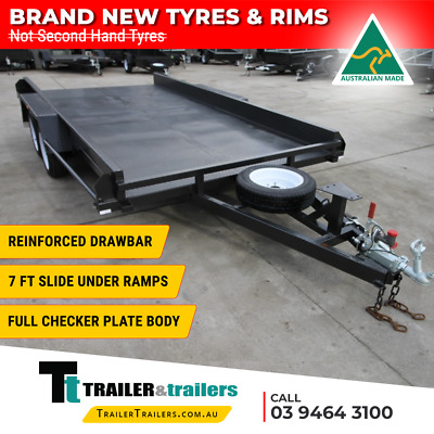 AU3590 • Buy 14x6'6 TANDEM AXLE CAR CARRIER BOX TRAILER | 10  SIDES | NEW WHEELS & NEW TYRES