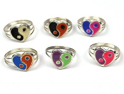 Cool Original Vintage Yin And Yang Ring USA 1970's Children Ring • 10.06£