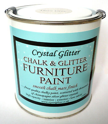 Chalk & Glitter Furniture Paint, Shabby Chic Matt Finish, Holographic Crystals • 16.95£