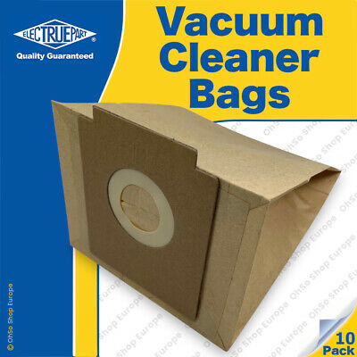 10 X ZANUSSI COMPACT Vacuum Cleaner Dust Bags To Fit  1400W 1800W ZAN-3002 • 9.98£