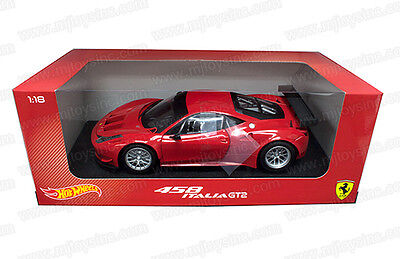 1:18 Hot Wheels Foundation Car Die Cast Ferrari 458 Italy Gt2 Bcj77 • 53.29£
