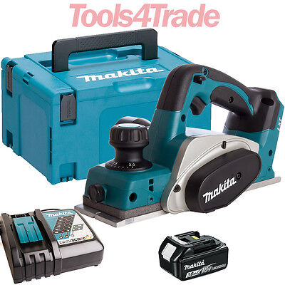 Makita DKP180Z 18V Li-ion 82mm Planer With 1 X 3.0Ah Battery & Charger In Case • 249£