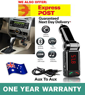 AU13.99 • Buy IPhone X Bluetooth Car Kit FM Transmitter Car Charger MP3 Player USB